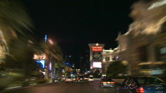 Las Vegas Traffic - Car Camera Mount - Clip 1 Stock Footage