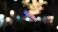 Stock Video Footage of defocus people walking on the street at night / great generics