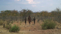Himba Tribe, Namibia, Africa Stock Footage