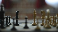 Queen takes bishop in chess game Stock Footage