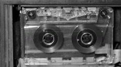 Stock Video Footage of Audio Cassette