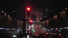Arc de Triomphe - stock footage
