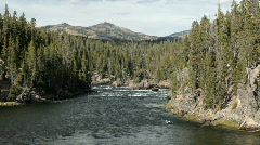 Yellowstone River down stream P HD 2384 Stock Footage