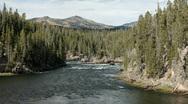 Yellowstone River down stream P HD 2384 Stock Footage