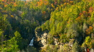 Linville falls autumn04 Stock Footage
