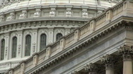 Stock Video Footage of Capitol Building Detail HD
