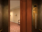 Stock Video Footage of Hotel Corridor 1