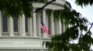 Stock Video Footage of Capitol Building Flag HD