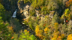 Linville falls autumn05 Stock Footage