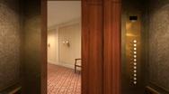 Hotel Corridor 1 Stock Footage