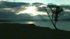 Dramatic sunset on Baikal lake. Stock Footage