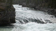 Yellowstone River rapid falls P  2394 Stock Footage