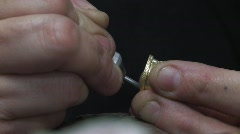 Jewelry making and repair 3 Stock Footage