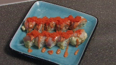 Japanese Sushi Rolls 4 Stock Footage