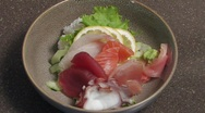 Stock Video Footage of Japanese Sashimi Bowl