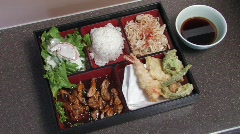 Japanese Food Tray Stock Footage