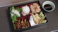 Stock Video Footage of Japanese Food Tray