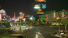 Las Vegas Night Traffic - Time lapse - Clips 10 of 12 Stock Footage