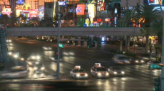 Las Vegas Night Traffic - Time lapse - Clips 9 of 12 Stock Footage