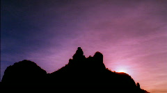 Sedona Arizona Silhouette Rock HD Stock Footage