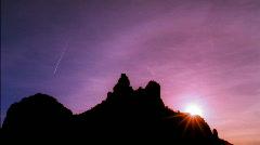 Sedona Arizona Silhouette Rock HD Stock Footage