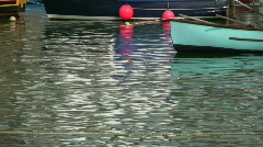 Boat ripples. Stock Footage