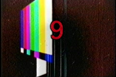 Countdown colorbar animated vintage Stock Footage