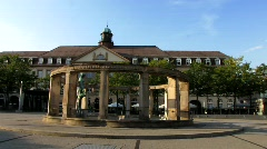 Germany Karlsruhe Europe Platz Town square - stock footage