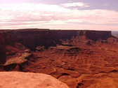Stock Video Footage of Canyonlands HS 01 Green River  Overlook Panorama Pan