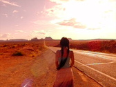 Stock Video Footage of Monument Valley HS 09 Sunset Indian Girl : High Speed Camera