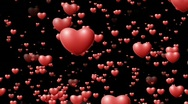 Falling hearts - Valentine's Scene - loops seamlessly Stock Footage