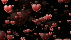 Floating hearts - Valentine's Scene - loops seamlessly Stock Footage