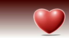 Throbbing heart - Valentine's Scene - loops seamlessly - stock footage