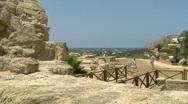 Caesarea arch pan Stock Footage