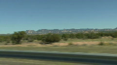 Desert Road In New Mexico Stock Footage