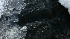 Ice and water. Stock Footage