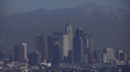 Stock Video Footage of Los Angeles City View 02 Downtown Tilt Up