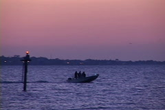 Boat On Mobile Bay Stock Footage