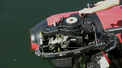 Fixing An Outboard Motor Stock Footage