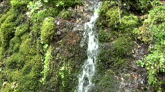 Water falling down a mountain wall Stock Footage