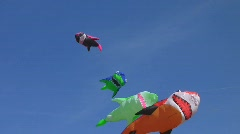 Kites in the wind Stock Footage