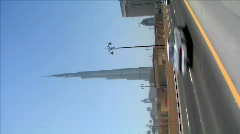 VERTICAL burj Khalifa Dubai wide - stock footage