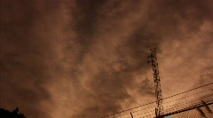 Motion Control Time Lapse Sunset Tower 01 Pan Stock Footage