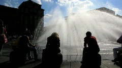 Germany Munich Stachus Karlsplatz fountain Stock Footage