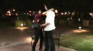 Young lovers in the evening with affection - 2 Stock Footage