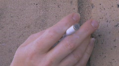 CIGARETTE SMOKER FLICKING ASHES Stock Footage