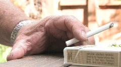 Seasoned Smoker Stock Footage