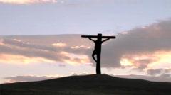 Christ on Calvary - stock footage