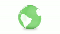 Spinning Earth globe Stock Footage
