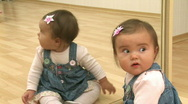 Baby Reflection Stock Footage